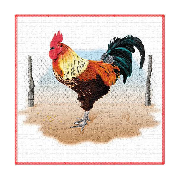 Leaf Designs Multicoloured Rooster Coaster - Set Of 6