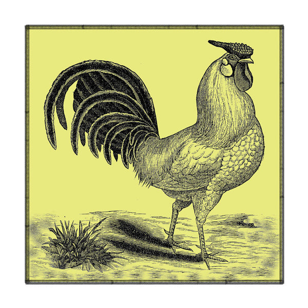Leaf Designs Lemon Rooster Coaster - Set Of 6