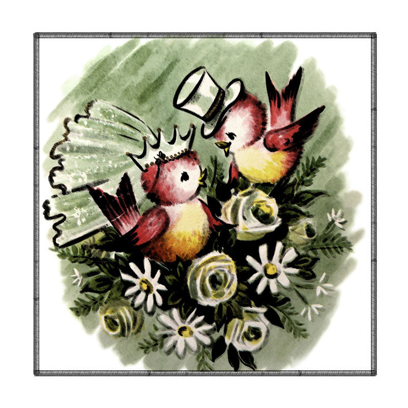 Leaf Designs Two Birds Coaster - Set Of 6
