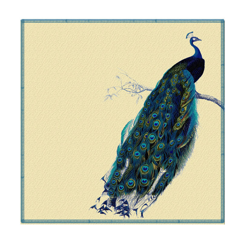 Leaf Designs Blue Peacock Coaster - Set Of 6