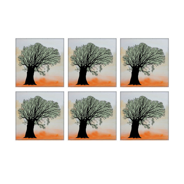 Leaf Designs Tree Coaster - Set Of 6