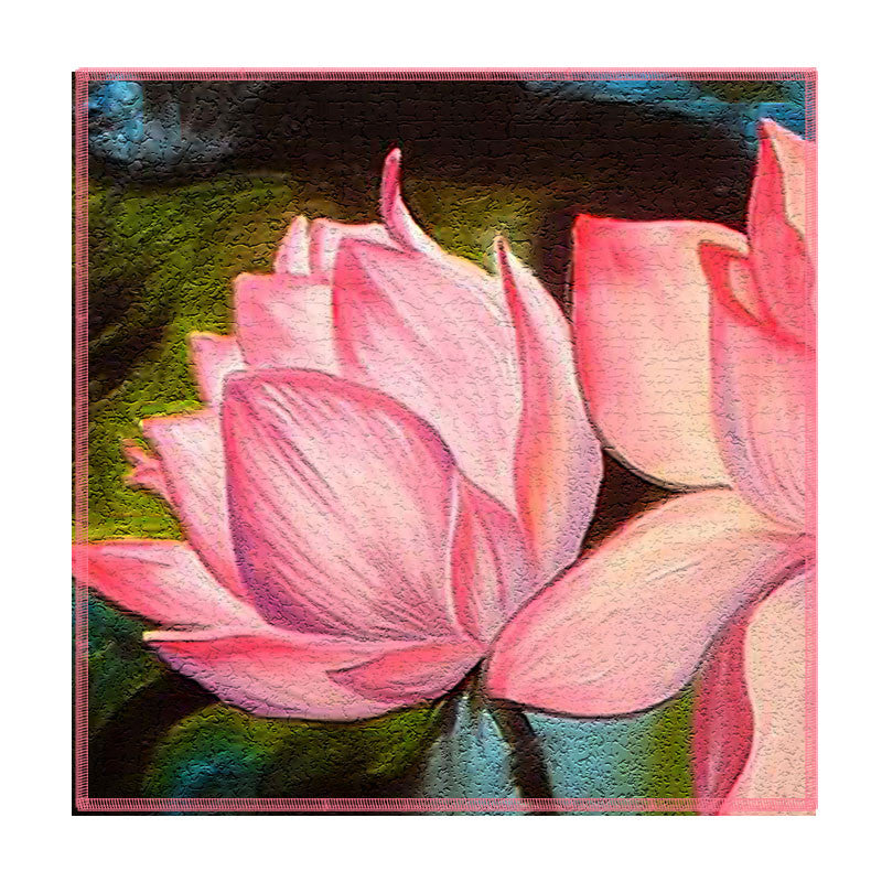 Leaf Designs Pink Lotus Coaster - Set Of 6