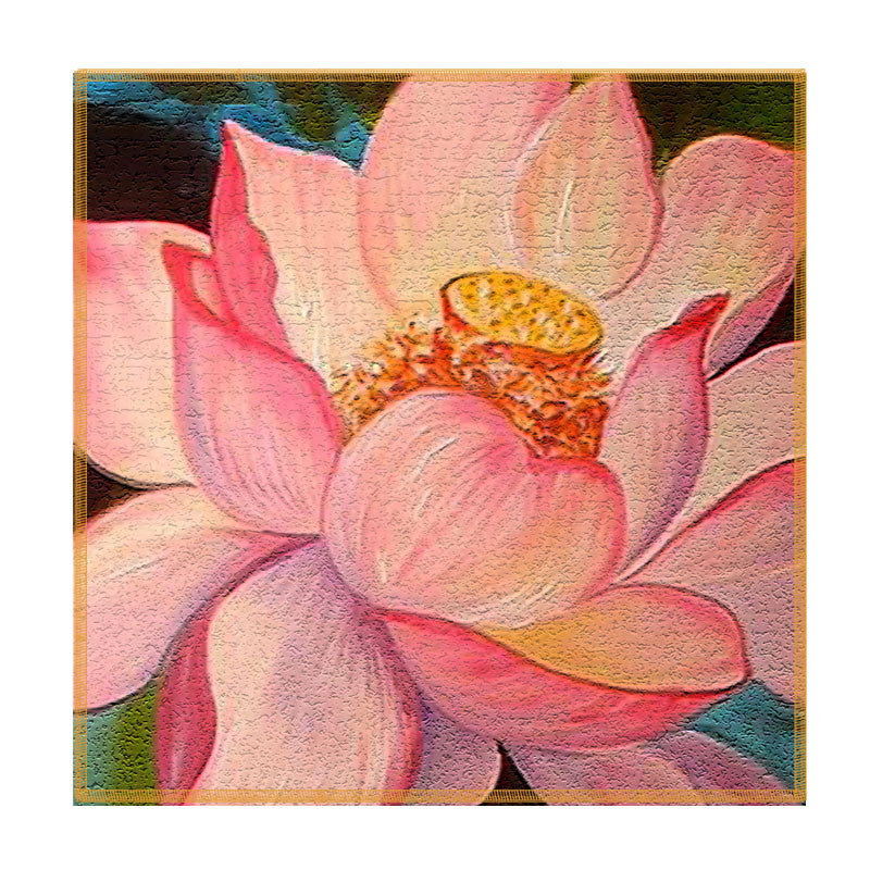 Leaf Designs Peach Lotus Coaster - Set Of 6