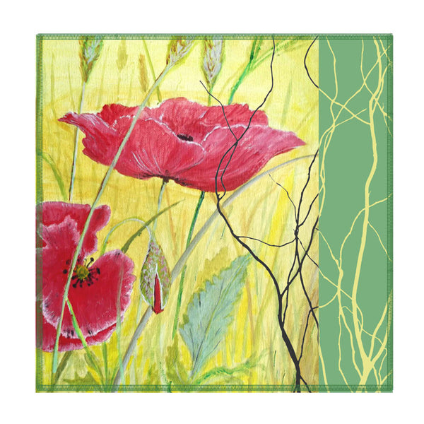 Leaf Designs Yellow And Red Floral Coaster - Set Of 6