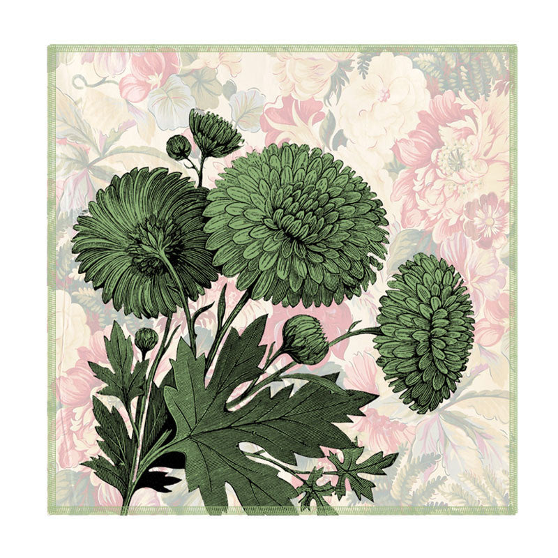 Leaf Designs Chintz Green Floral Coaster - Set Of 6