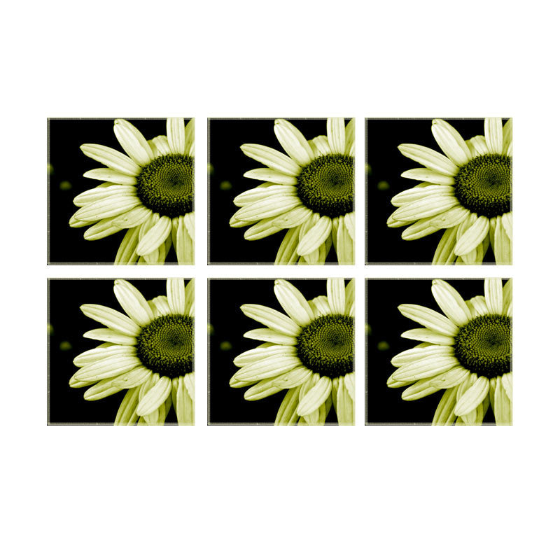 Leaf Designs Lemon Daisy Coaster - Set Of 6