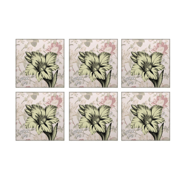 Leaf Designs Chintz Floral Coaster - Set Of 6