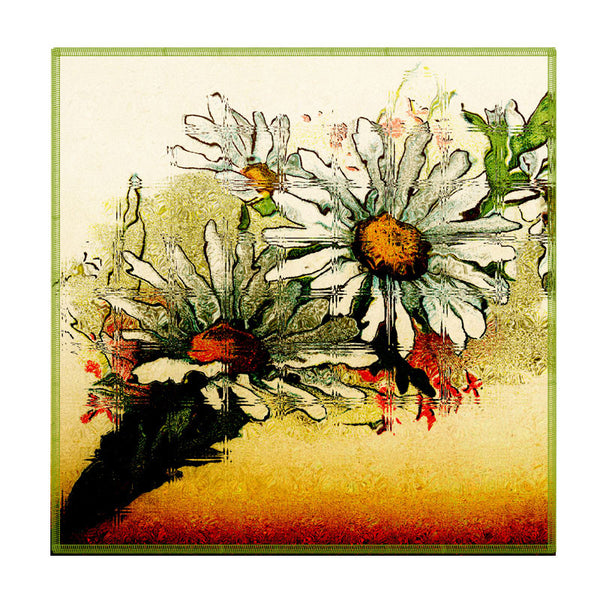 Leaf Designs Sunset Multicoloured Floral Coaster - Set Of 6