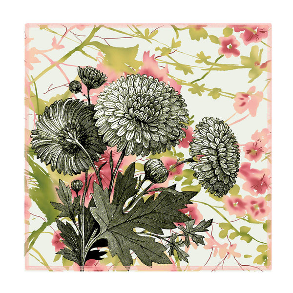 Leaf Designs Vintage Green Floral Coaster - Set Of 6