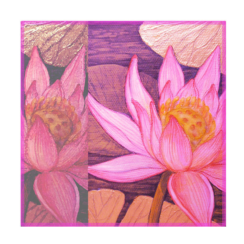 Leaf Designs Multicoloured Lotus Coasters - Set Of 6