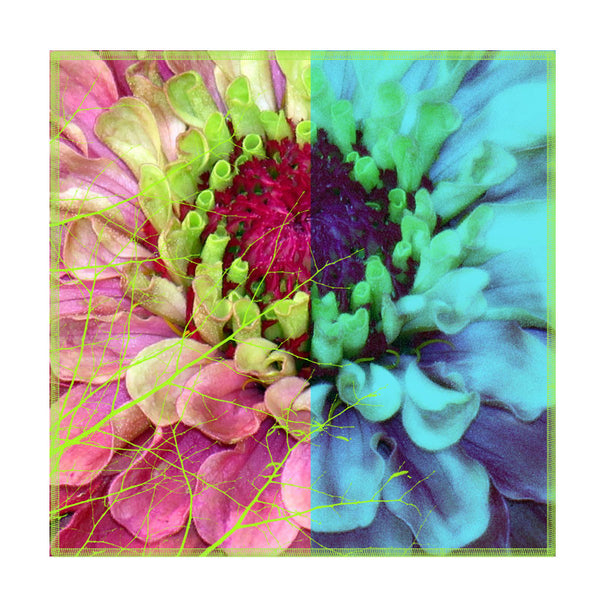 Leaf Designs Multicoloured Blue Hues Floral Coasters - Set Of 6
