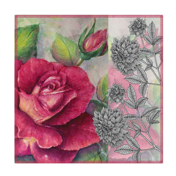 Leaf Designs Antique Rose Coasters - Set Of 6