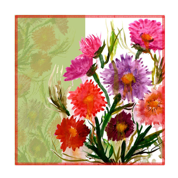 Leaf Designs Multicoloured Daisy Coasters - Set Of 6