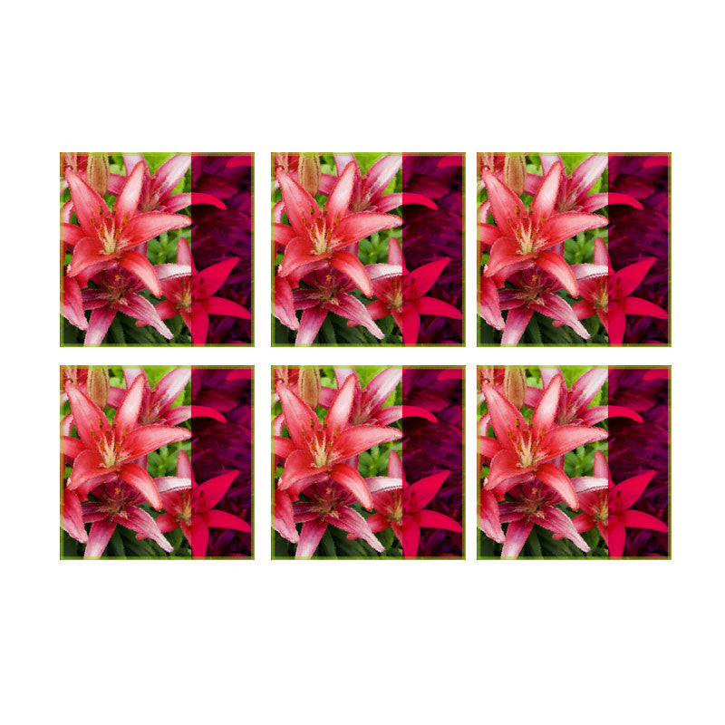 Leaf Designs Lily Coasters - Set Of 6