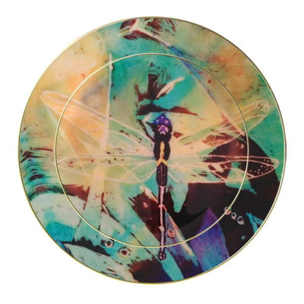 Leaf Designs Dragonfly Ceramic Dinner Plate