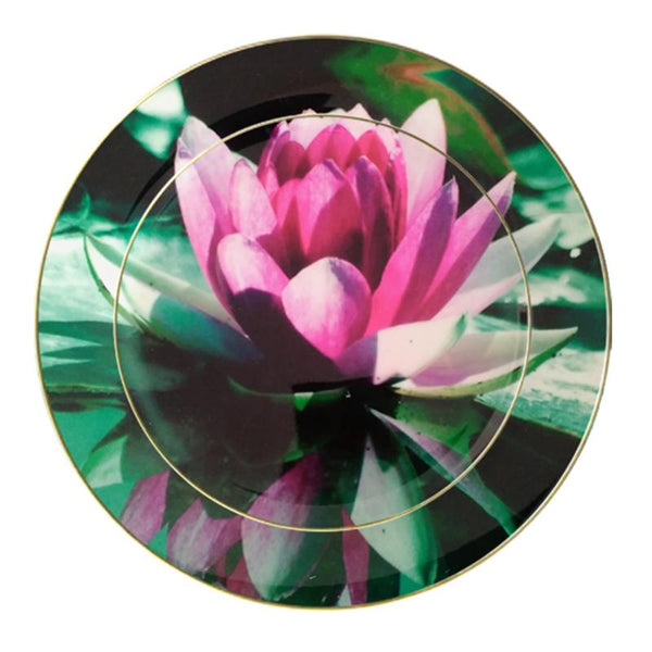Leaf Designs Lotus Ceramic Dinner Plate