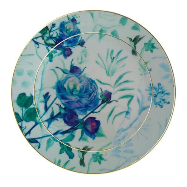 Leaf Designs Blue Vintage Dinner Plate