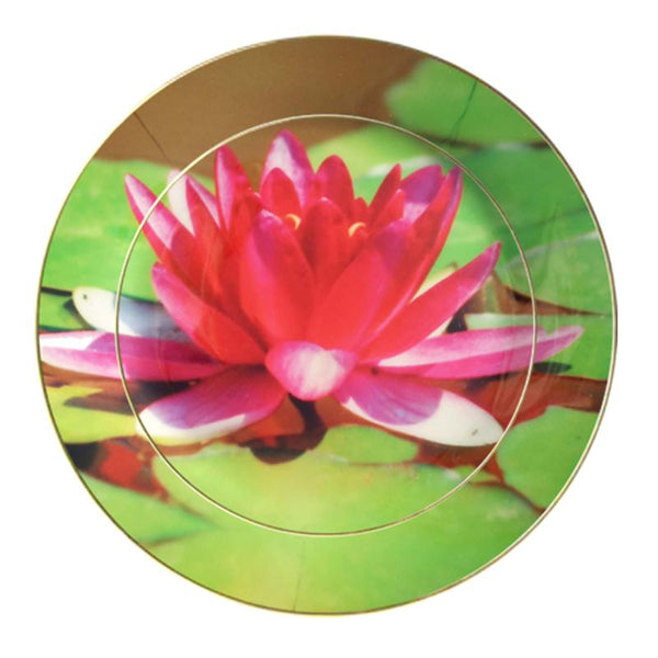 Leaf Designs Bright Green Lotus Dinner Plate