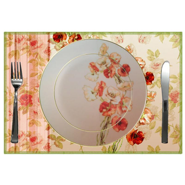 Leaf Designs Shaded Taupe Floral Dinner Plate