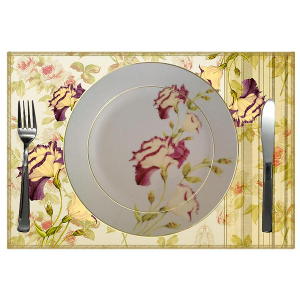 Leaf Designs Shaded Grey Floral Dinner Plate