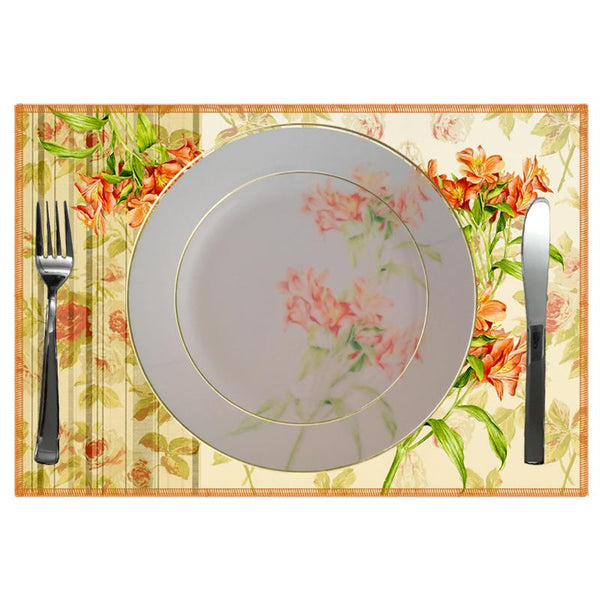 Leaf Designs Shaded Beige Floral Dinner Plate
