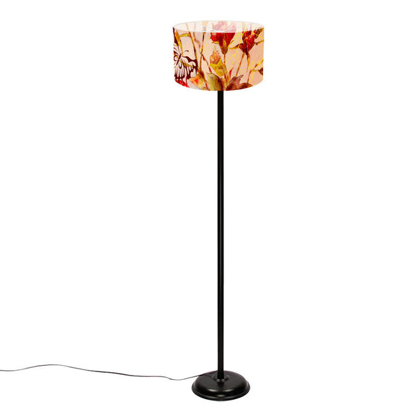 Leaf Designs Yellow Butterfly Floor Lamp
