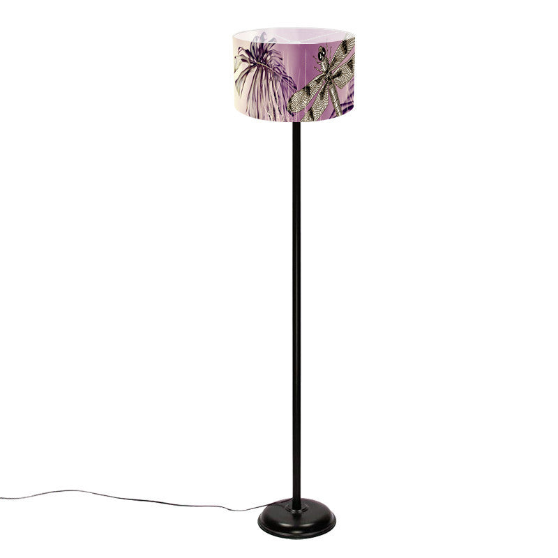 Leaf Designs Black Dragon Fly Floor Lamp