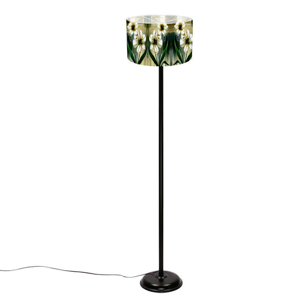 Leaf Designs Green Floral Floor Lamp