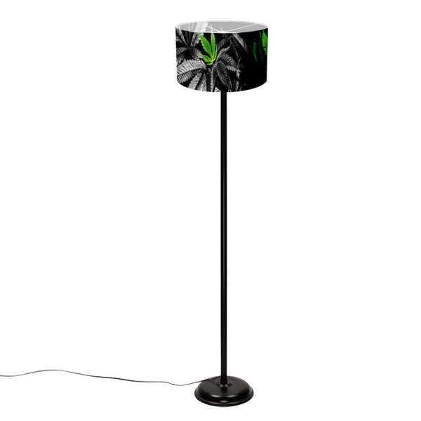 Leaf Designs Orange Floral Floor Lamp