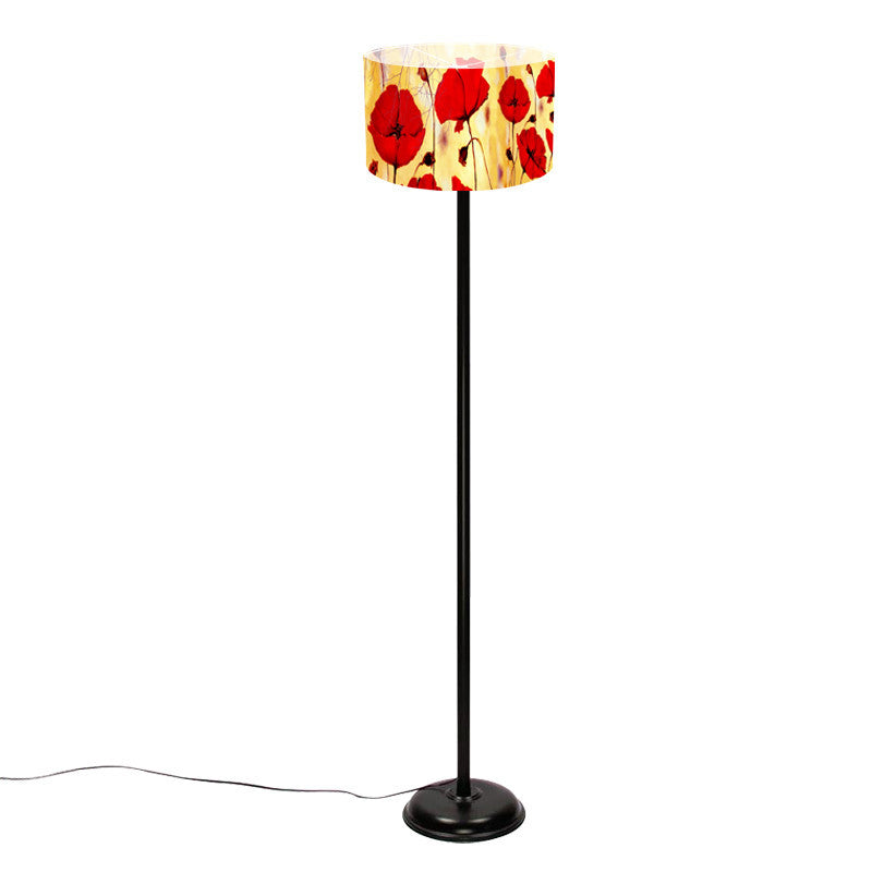 Leaf Designs Red Floral Floor Lamp