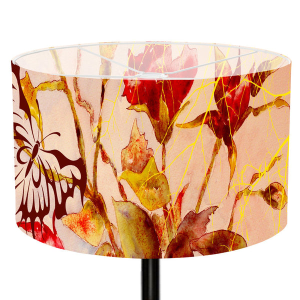 Leaf Designs Yellow Butterfly Lamp Shade