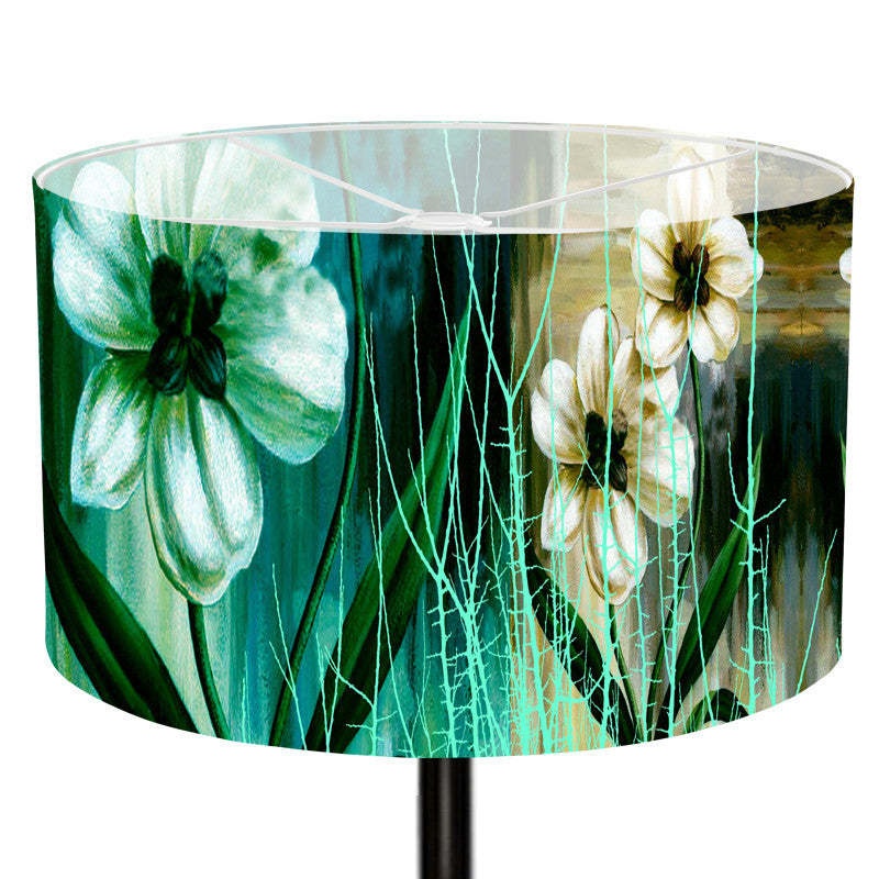 Leaf Designs Green Floral Lamp Shade