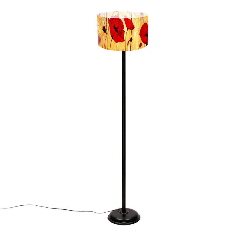 Leaf Designs Red Floral Lamp Shade