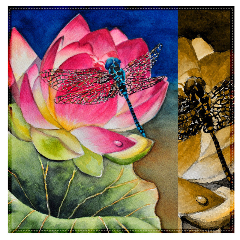 Leaf Designs Multicoloured Dragonfly Table Napkins - Set of 6