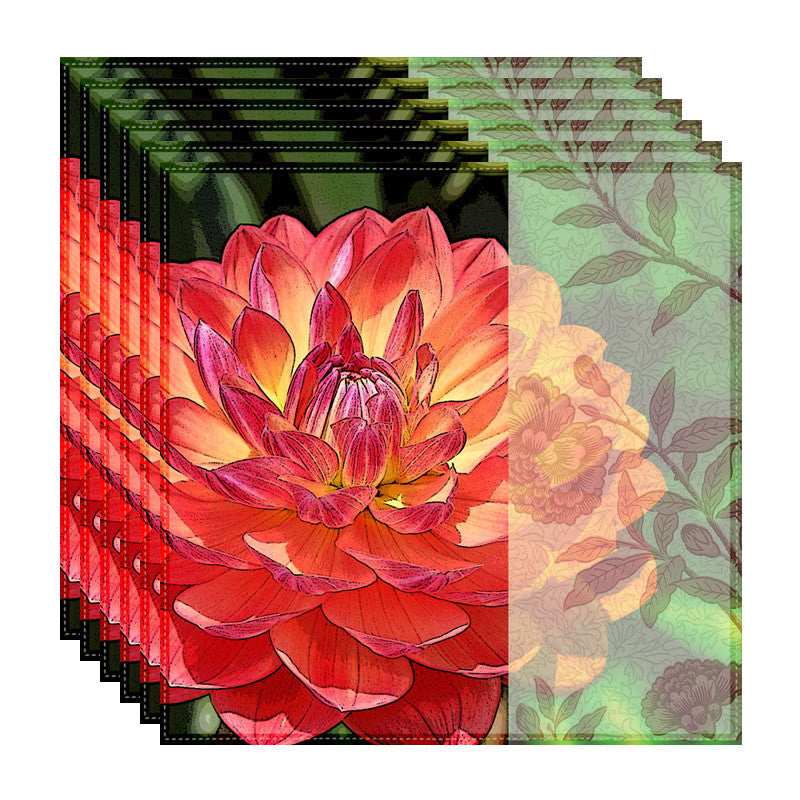 Leaf Designs Dahlia Table Napkins - Set of 6