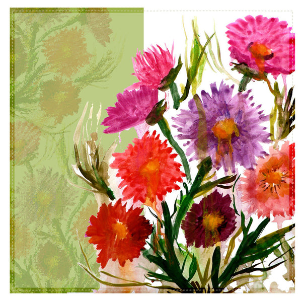 Leaf Designs Multicoloured Daisy Table Napkins - Set of 6