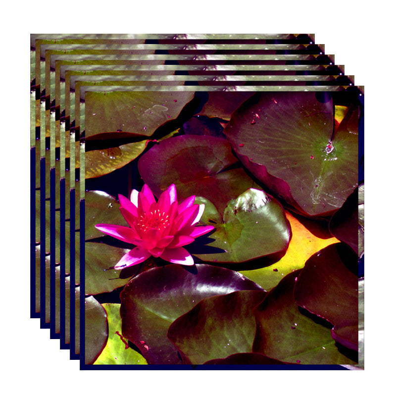 Leaf Designs Fuchsia Lotus With Leaves Table Napkins - Set Of 6