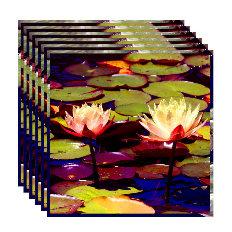 Leaf Designs Lightening Lotus Table Napkins - Set Of 6