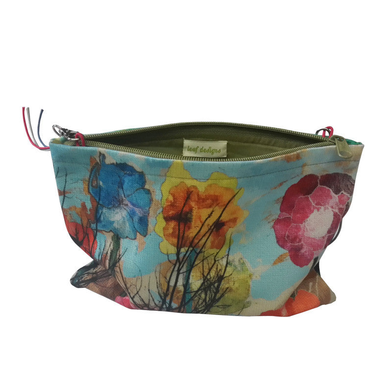 Leaf Designs Multicoloured Floral Sling Bag