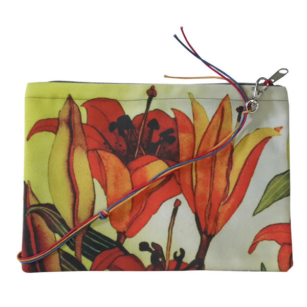Leaf Designs Black & Yellow Floral Sling Bag