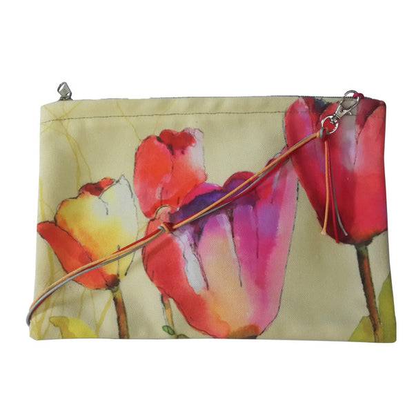 Leaf Designs Pink Tulip Sling Bag