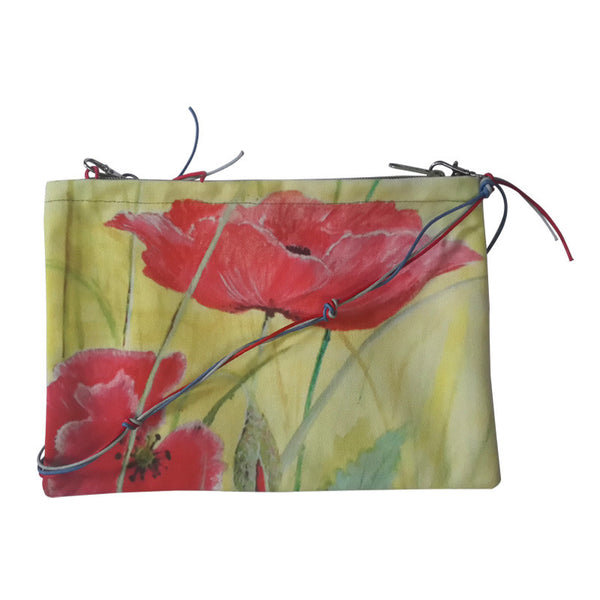 Leaf Designs Yellow & Pink Floral Sling Bag