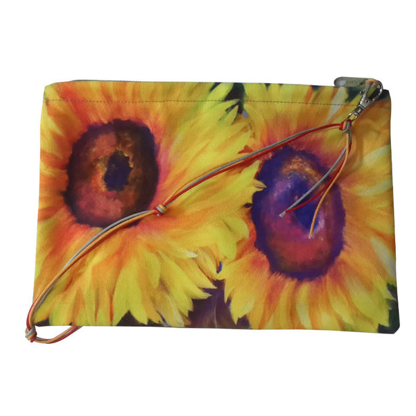 Leaf Designs Yellow Sunflower Sling Bag