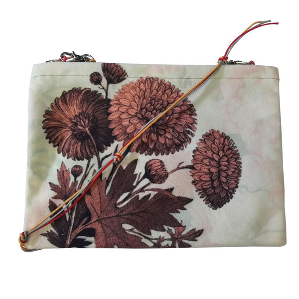 Leaf Designs Vintage Floral Sling Bag