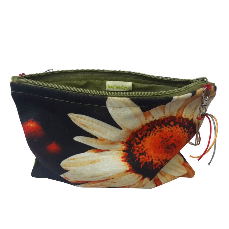 Leaf Designs Peach & Yellow Floral Sling Bag