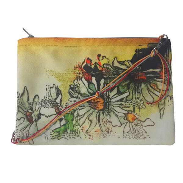 Leaf Designs Yellow & Green Floral Sling Bag (B)