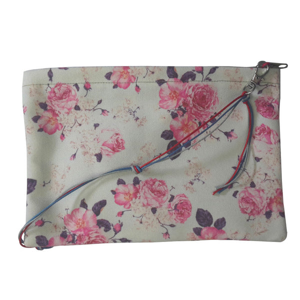 Leaf Designs Green Rose Floral Sling Bag