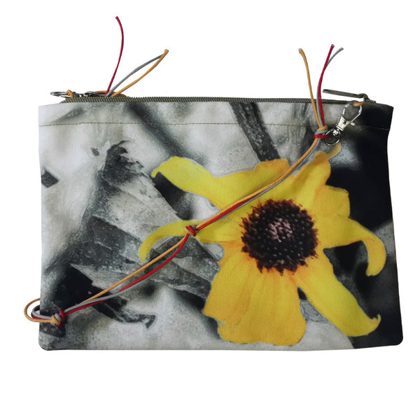 Leaf Designs Yellow & Green Floral Sling Bag (A)