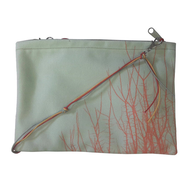 Leaf Designs Red Floral Sling Bag