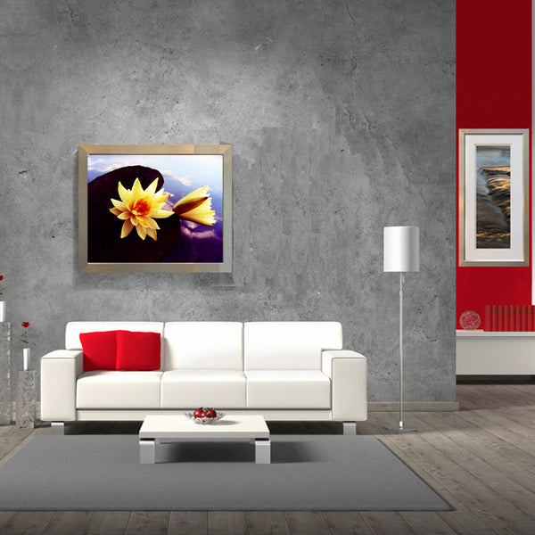 Leaf Designs Yellow Lotus Poster